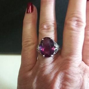 Huge Amethyst Fashion Ring